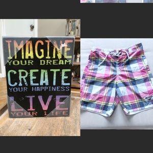 HOLD for Amanda- Imagine sign & Hollister Suit